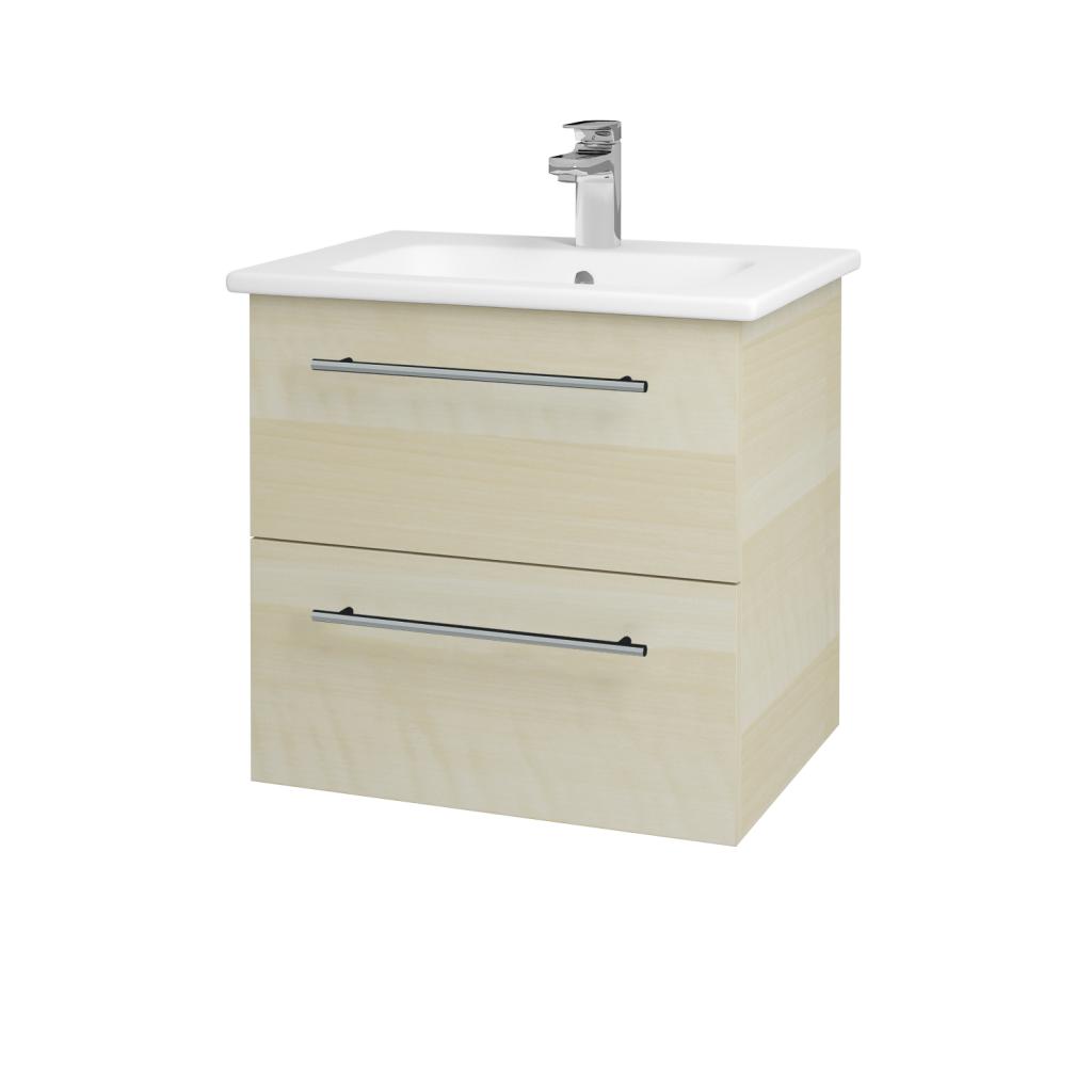 Dreja - Kúpeľňová skriňa GIO SZZ2 60 - D02 Bříza / Úchytka T02 / D02 Bříza (82911B)