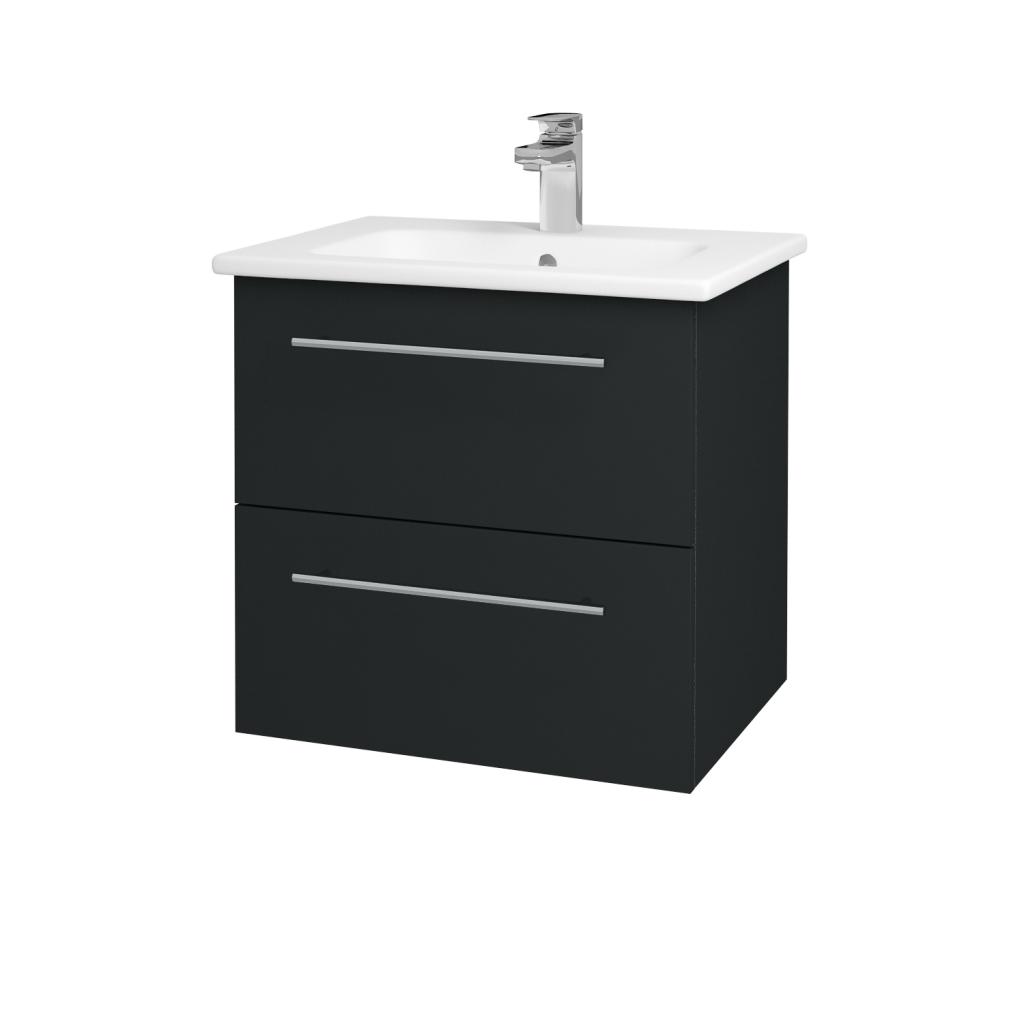 Dreja - Kúpeľňová skriňa GIO SZZ2 60 - L03 Antracit vysoký lesk / Úchytka T02 / L03 Antracit vysoký lesk (82973B)