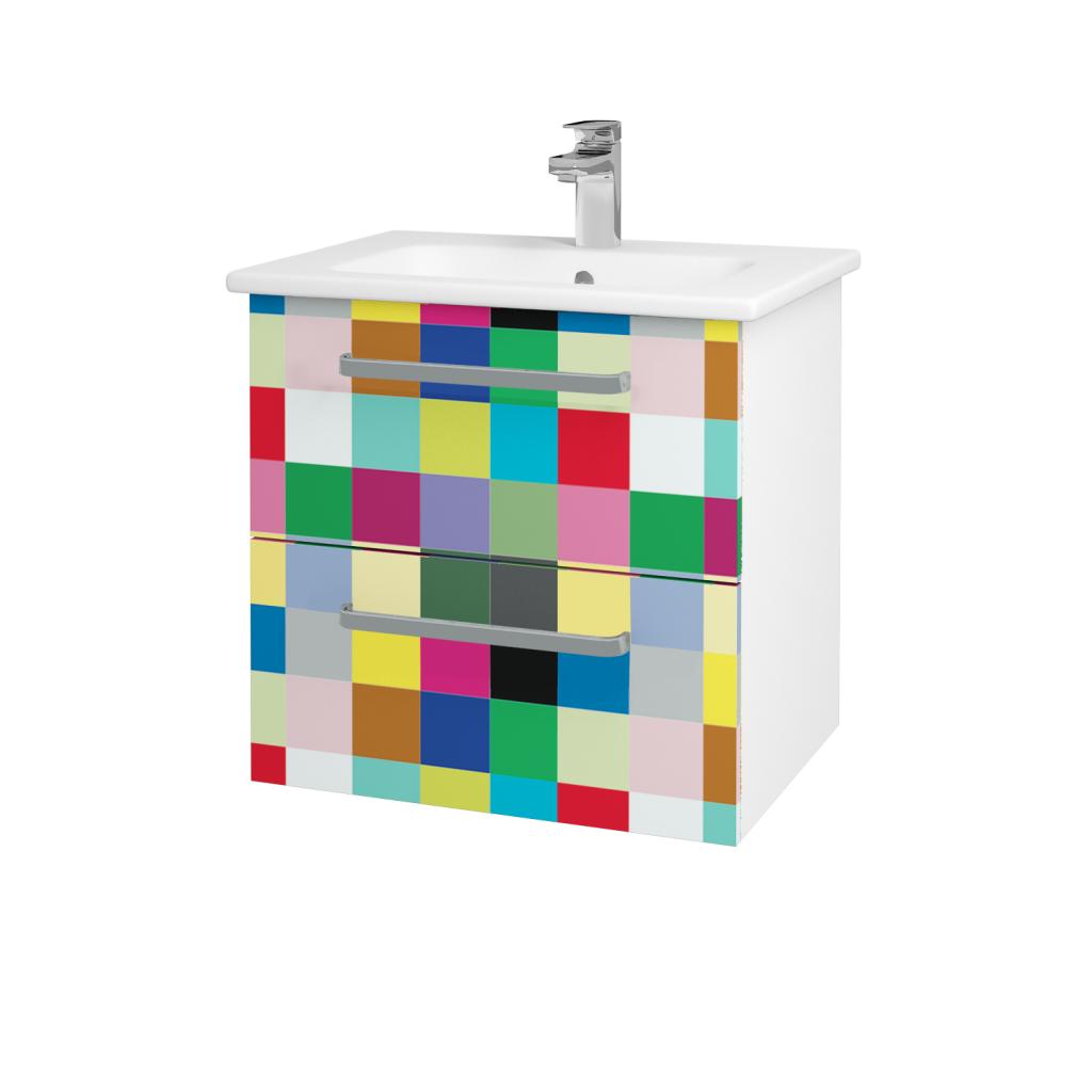 Dreja - Kúpeľňová skriňa GIO SZZ2 60 - N01 Bílá lesk / Úchytka T01 / IND Individual (82867A)