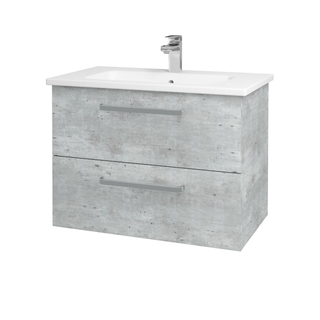 Dreja - Kúpeľňová skriňa GIO SZZ2 80 - D01 Beton / Úchytka T01 / D01 Beton (82096A)