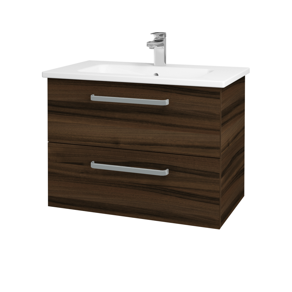 Dreja - Kúpeľňová skriňa GIO SZZ2 80 - D06 Ořech / Úchytka T01 / D06 Ořech (82034A)