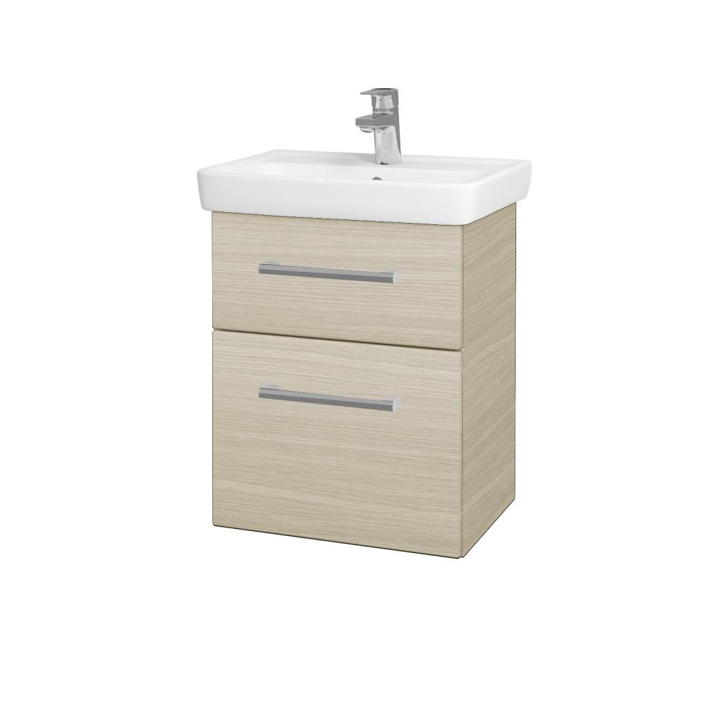 Dreja - Kúpeľňová skriňa GO SZZ2 50 - D04 Dub / Úchytka T03 / D04 Dub (28094C)