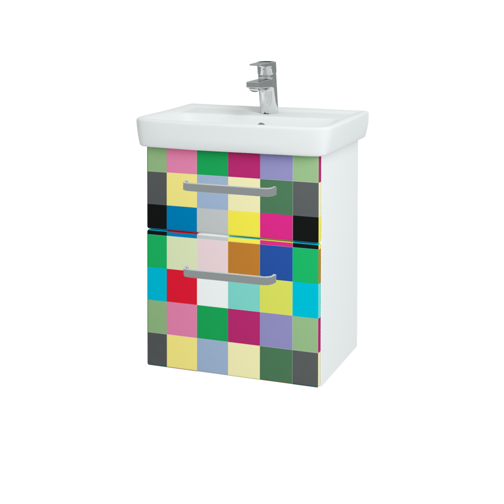 Dreja - Kúpeľňová skriňa GO SZZ2 50 - N01 Bílá lesk / Úchytka T01 / IND Individual (23815A)