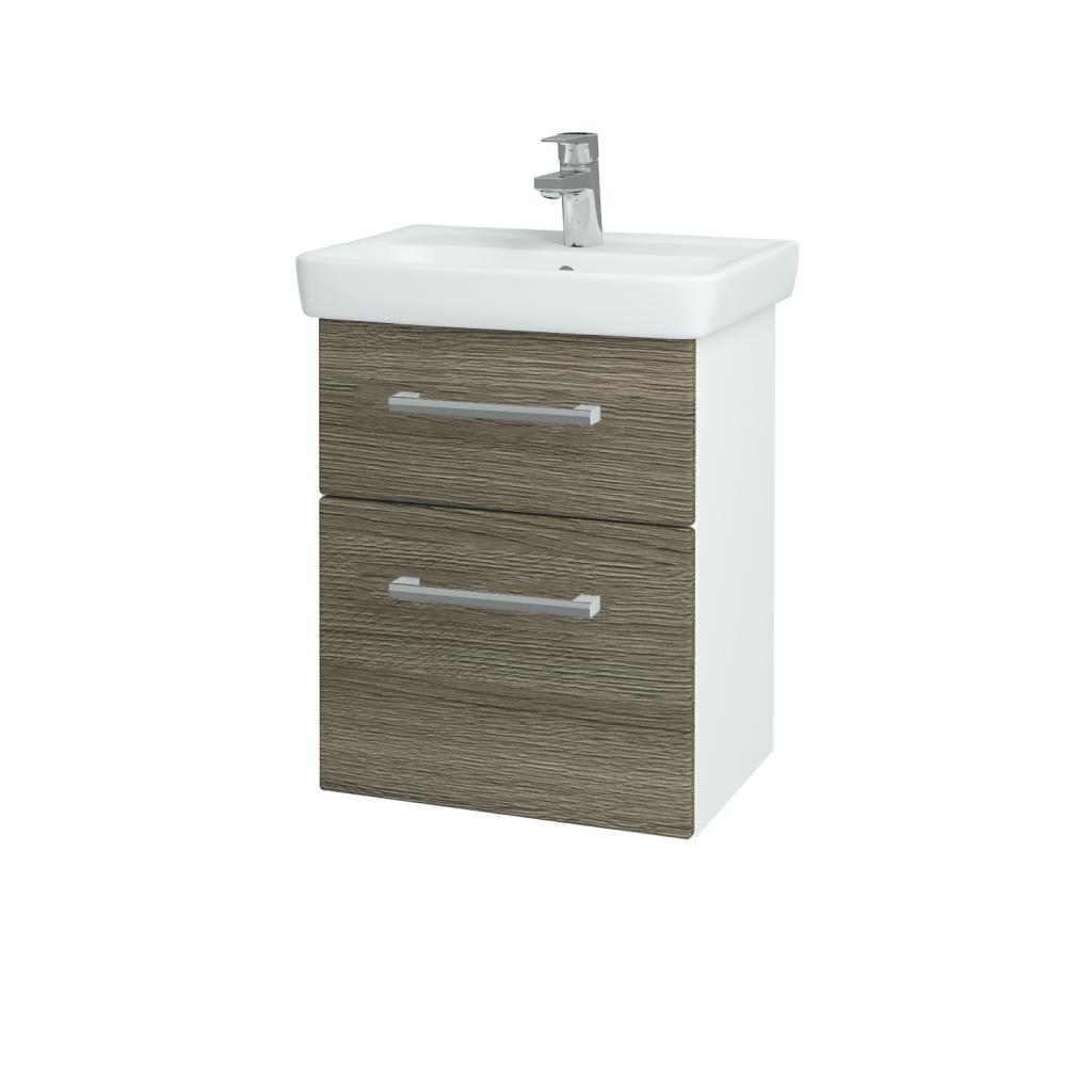 Dreja - Kúpeľňová skriňa GO SZZ2 50 - N01 Bílá lesk / Úchytka T03 / D03 Cafe (27912C)