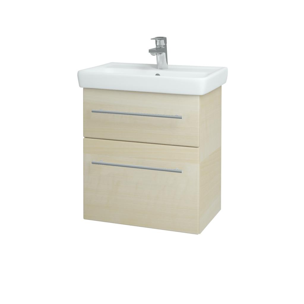 Dreja - Kúpeľňová skriňa GO SZZ2 55 - D02 Bříza / Úchytka T02 / D02 Bříza (28162B)
