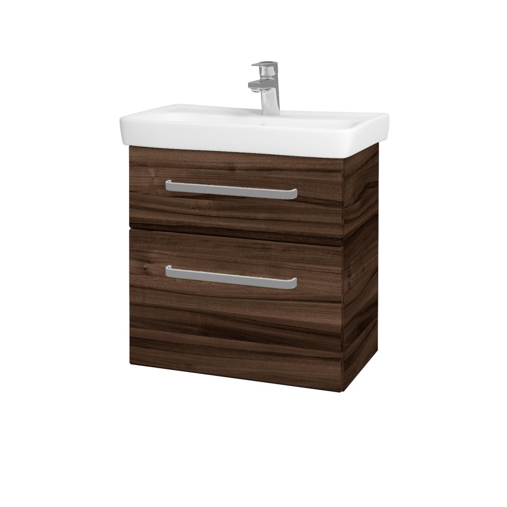 Dreja - Kúpeľňová skriňa GO SZZ2 60 - D06 Ořech / Úchytka T01 / D06 Ořech (29787A)