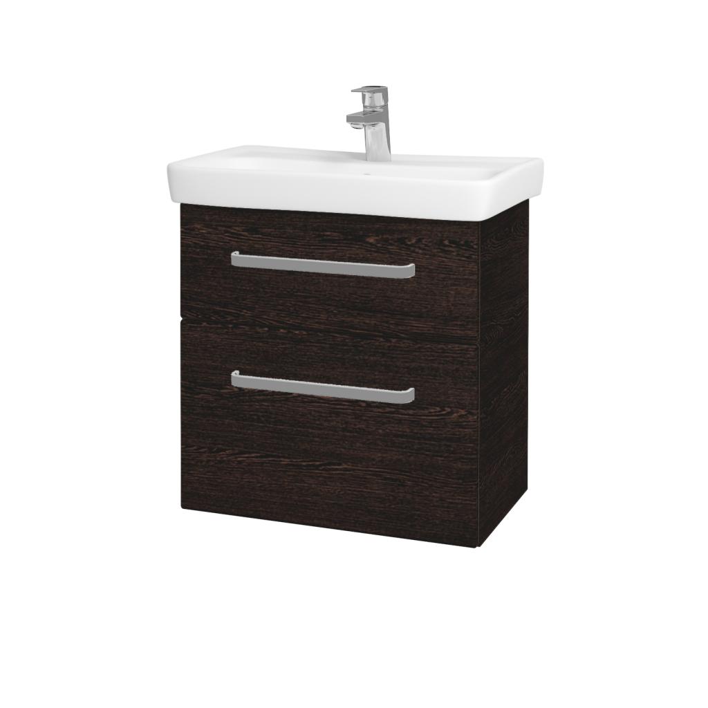 Dreja - Kúpeľňová skriňa GO SZZ2 60 - D08 Wenge / Úchytka T01 / D08 Wenge (28209A)