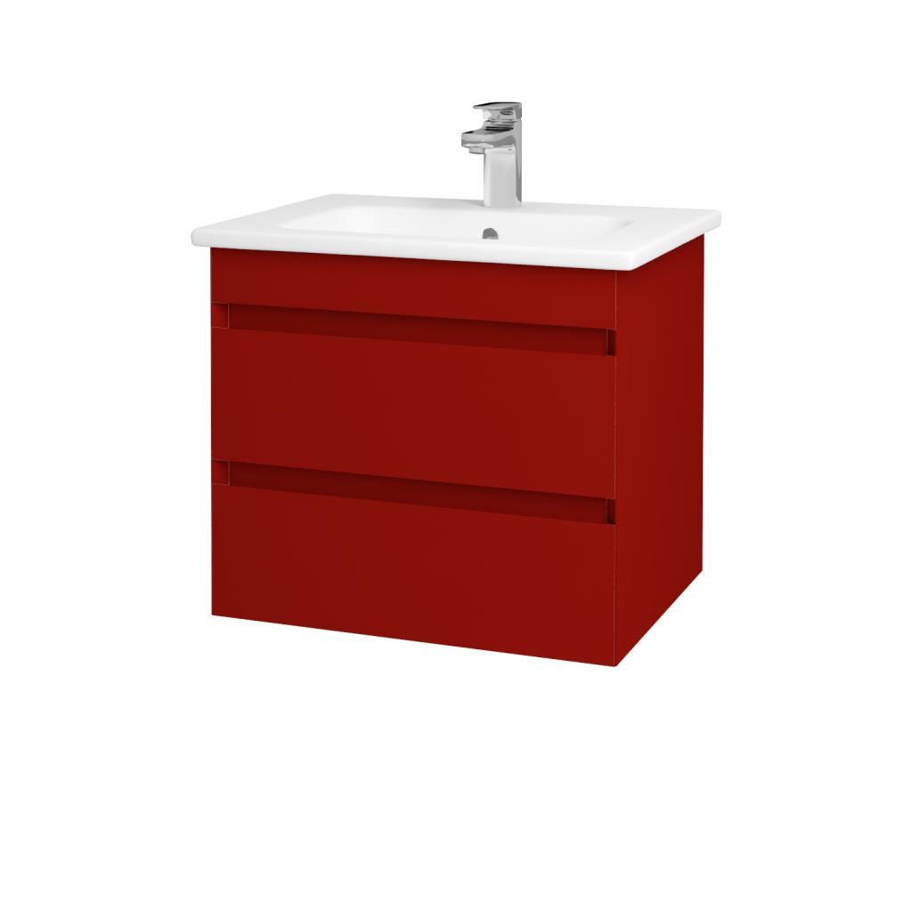 Dreja - Kúpeľňová skriňa MAJESTY SZZ2 60 - L07 Červená vysoký lesk / L07 Červená vysoký lesk (83710)