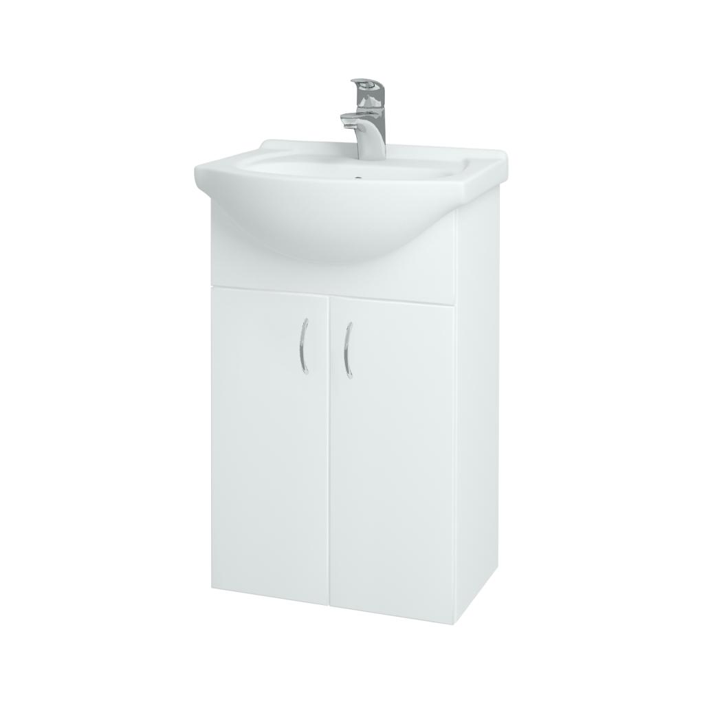 Dreja - Kúpeľňová skriňa PLUTO SZD2 50 - N01 Bílá lesk / N01 Bílá lesk (52310)
