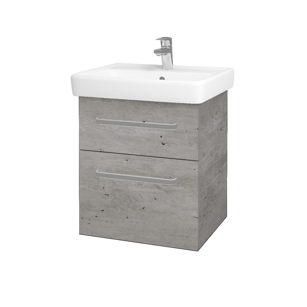 Dreja - Kúpeľňová skriňa Q MAX SZZ2 55 - D01 Beton / Úchytka T01 / D01 Beton (67512A)