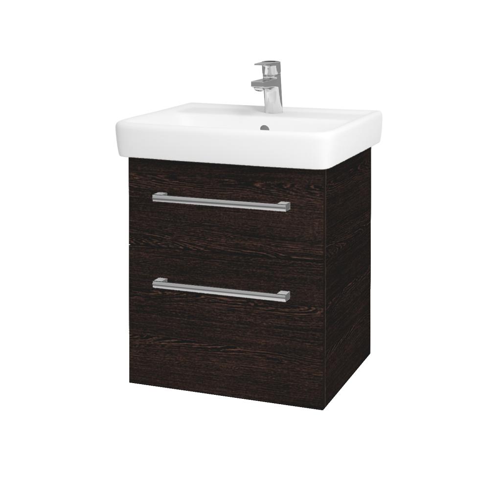 Dreja - Kúpeľňová skriňa Q MAX SZZ2 55 - D08 Wenge / Úchytka T03 / D08 Wenge (61169C)