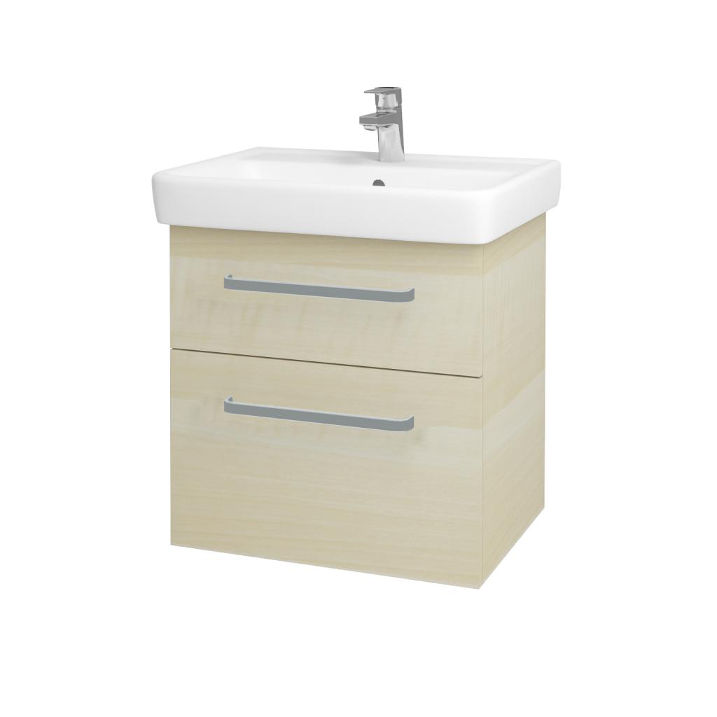 Dreja - Kúpeľňová skriňa Q MAX SZZ2 60 - D02 Bříza / Úchytka T01 / D02 Bříza (60285A)
