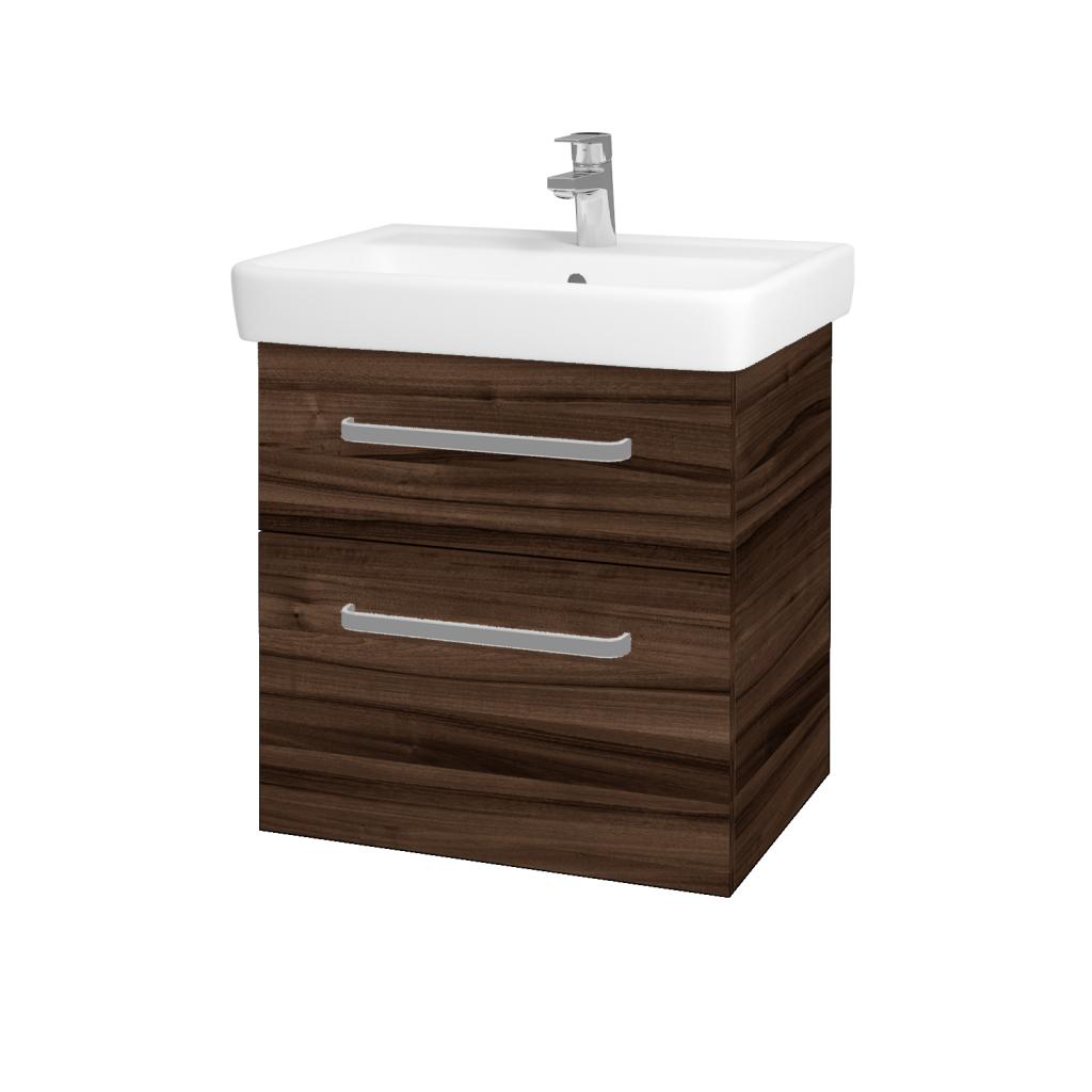 Dreja - Kúpeľňová skriňa Q MAX SZZ2 60 - D06 Ořech / Úchytka T01 / D06 Ořech (60353A)
