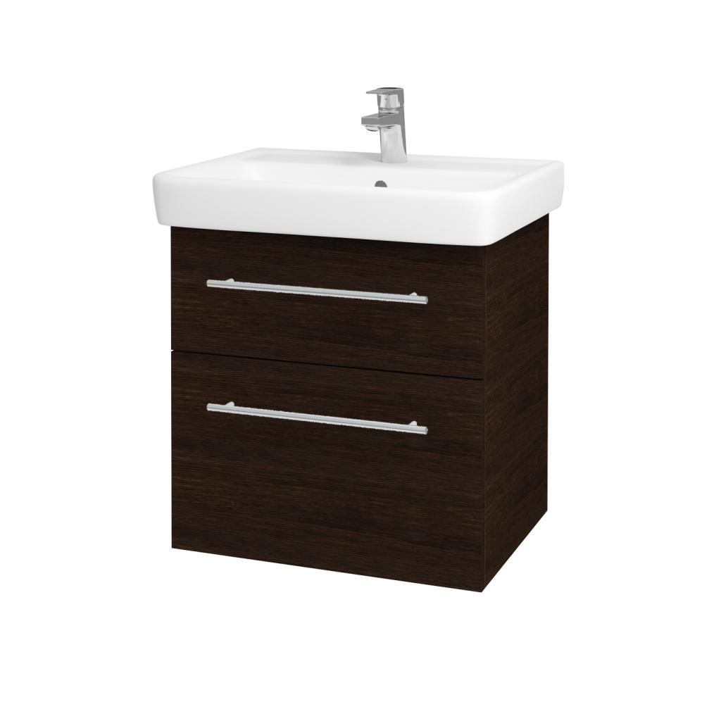 Dreja - Kúpeľňová skriňa Q MAX SZZ2 60 - D08 Wenge / Úchytka T02 / D08 Wenge (60292B)