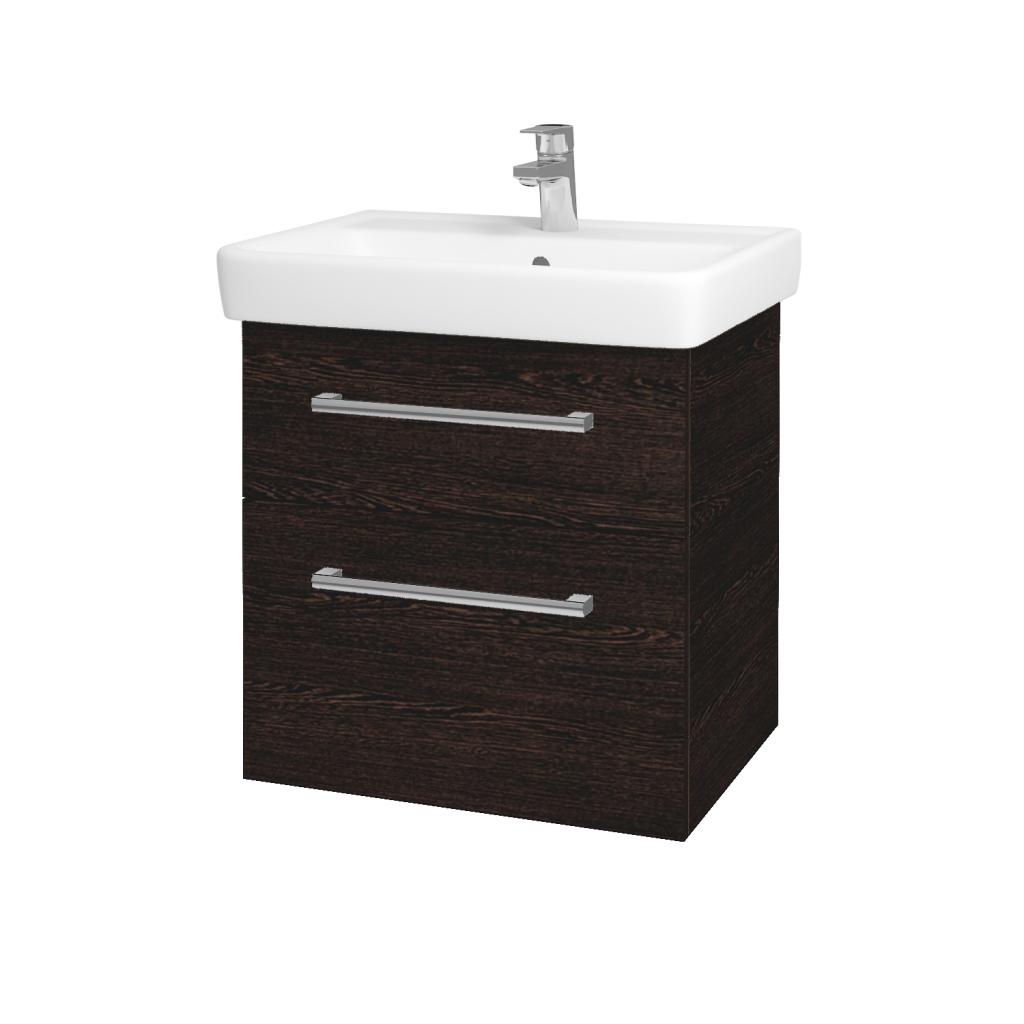 Dreja - Kúpeľňová skriňa Q MAX SZZ2 60 - D08 Wenge / Úchytka T03 / D08 Wenge (60292C)