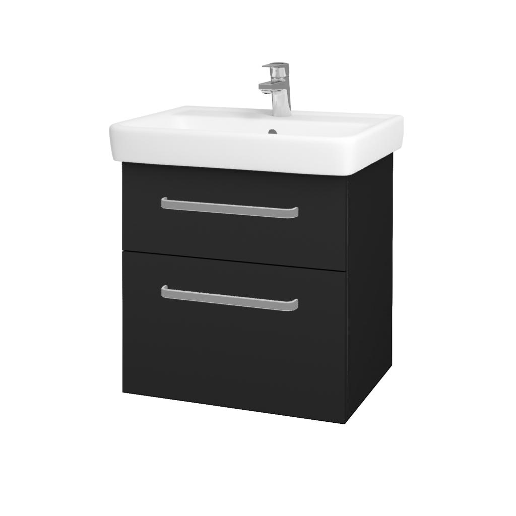 Dreja - Kúpeľňová skriňa Q MAX SZZ2 60 - L03 Antracit vysoký lesk / Úchytka T01 / L03 Antracit vysoký lesk (60377A)