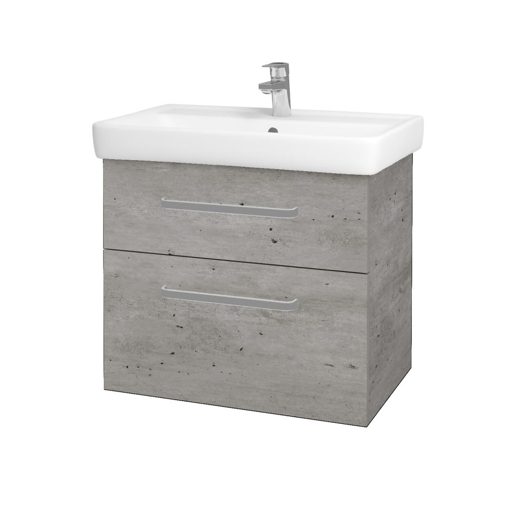Dreja - Kúpeľňová skriňa Q MAX SZZ2 70 - D01 Beton / Úchytka T01 / D01 Beton (67536A)