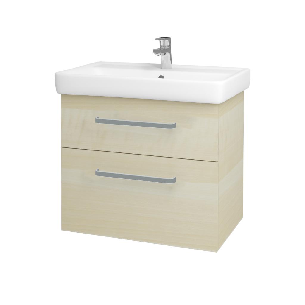 Dreja - Kúpeľňová skriňa Q MAX SZZ2 70 - D02 Bříza / Úchytka T01 / D02 Bříza (60308A)