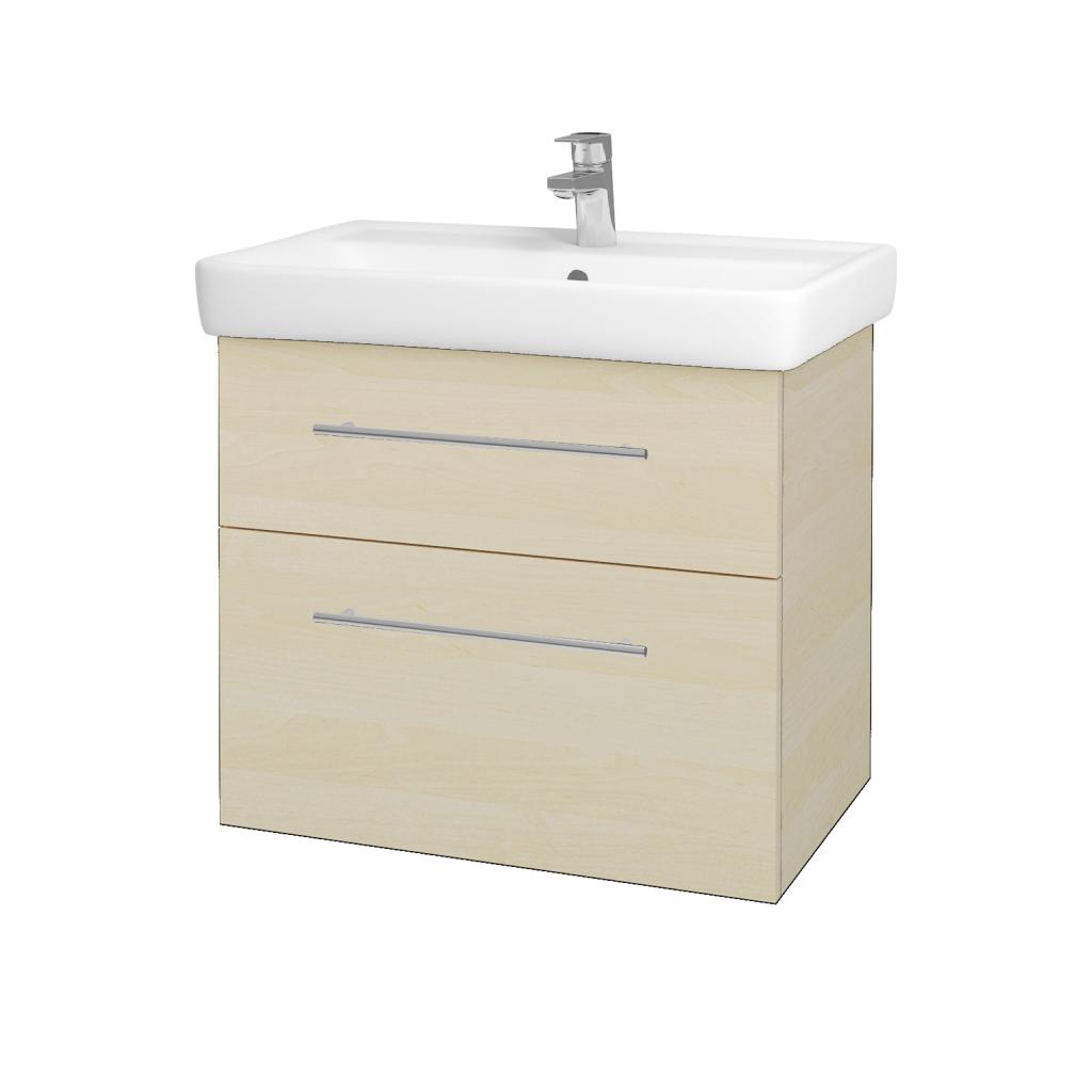 Dreja - Kúpeľňová skriňa Q MAX SZZ2 70 - D02 Bříza / Úchytka T02 / D02 Bříza (60308B)