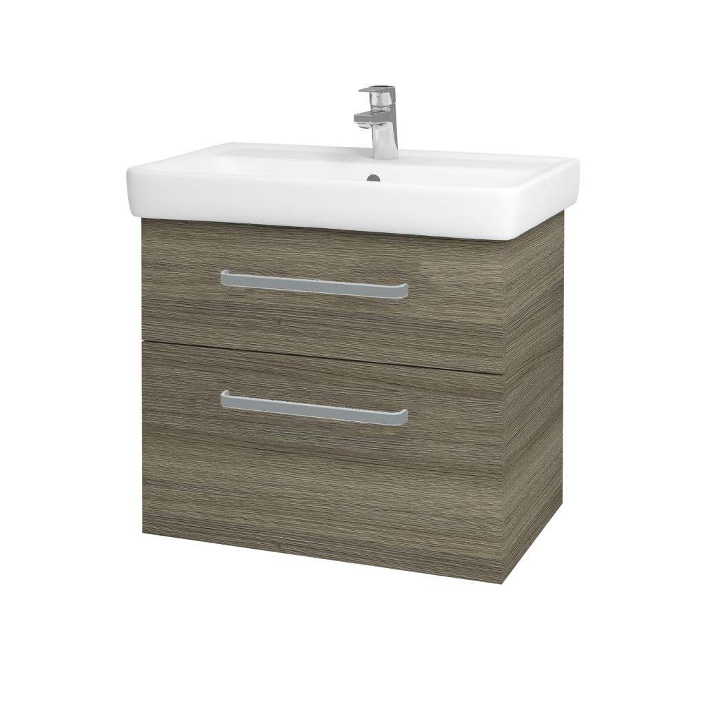 Dreja - Kúpeľňová skriňa Q MAX SZZ2 70 - D03 Cafe / Úchytka T01 / D03 Cafe (68458A)