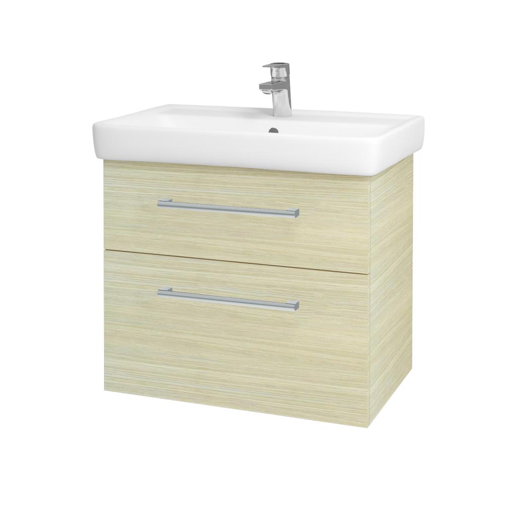 Dreja - Kúpeľňová skriňa Q MAX SZZ2 70 - D04 Dub / Úchytka T03 / D04 Dub (60407C)