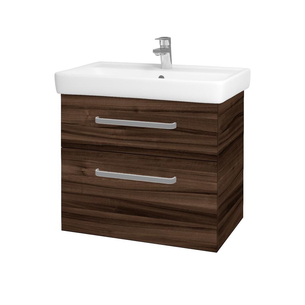 Dreja - Kúpeľňová skriňa Q MAX SZZ2 70 - D06 Ořech / Úchytka T01 / D06 Ořech (60414A)