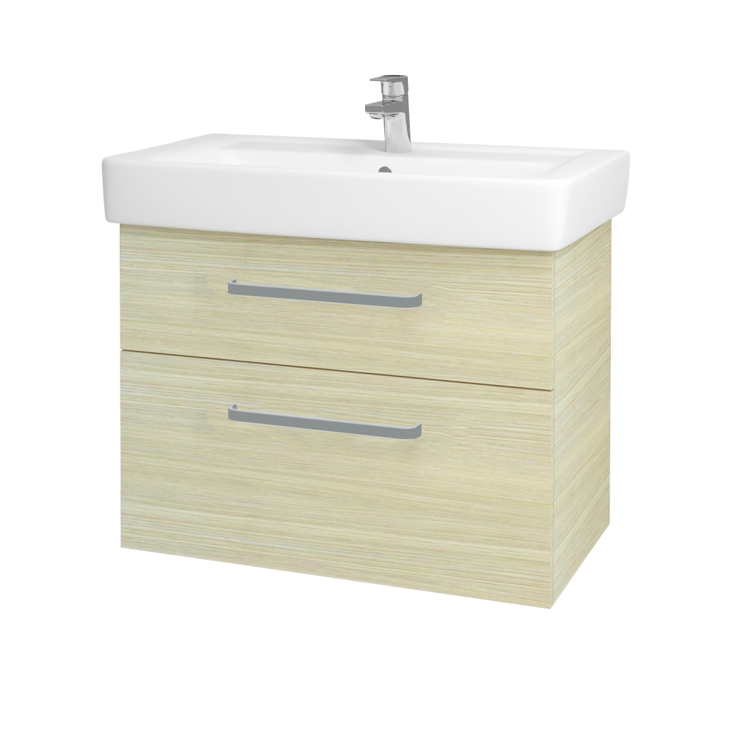 Dreja - Kúpeľňová skriňa Q MAX SZZ2 80 - D04 Dub / Úchytka T01 / D04 Dub (60469A)