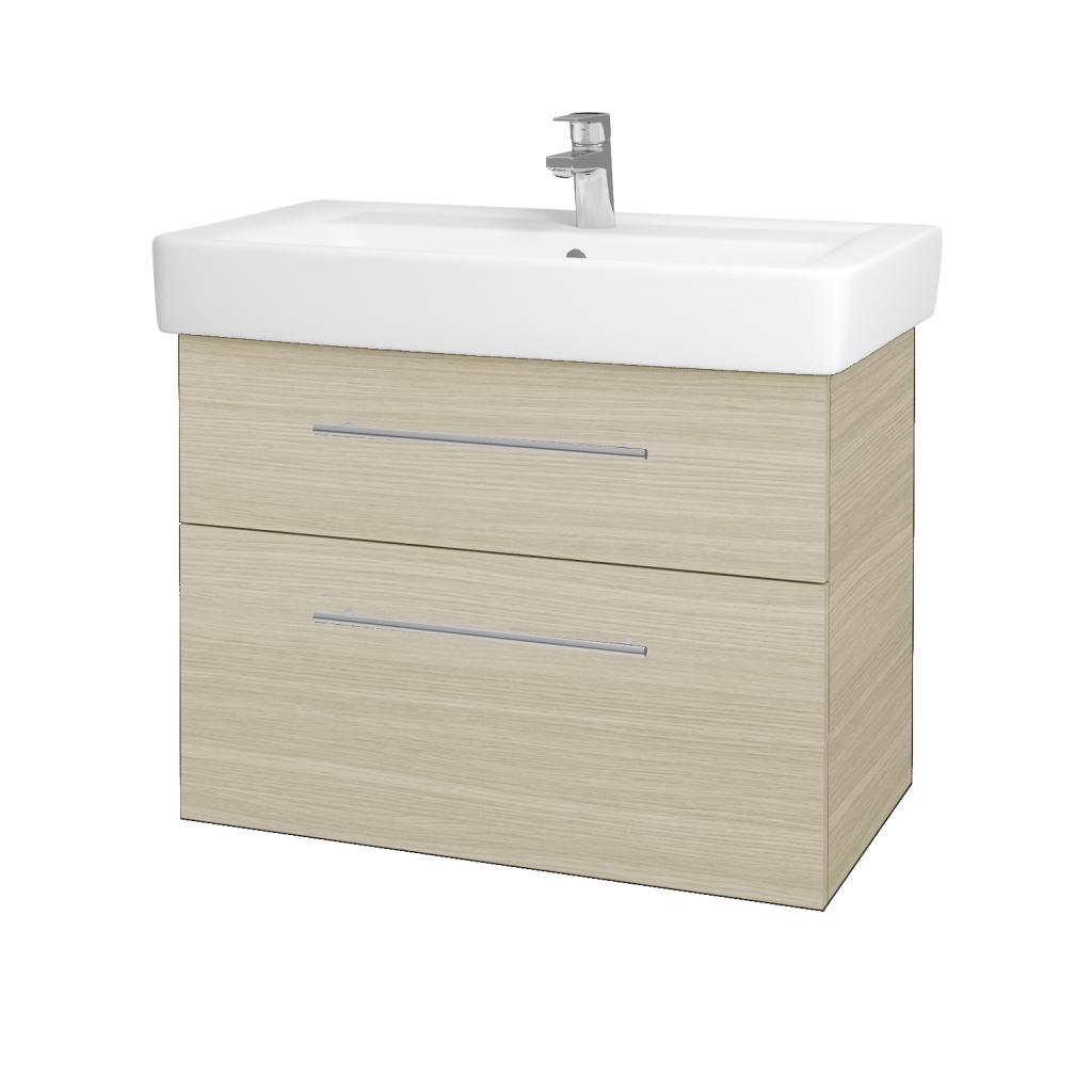 Dreja - Kúpeľňová skriňa Q MAX SZZ2 80 - D04 Dub / Úchytka T02 / D04 Dub (60469B)