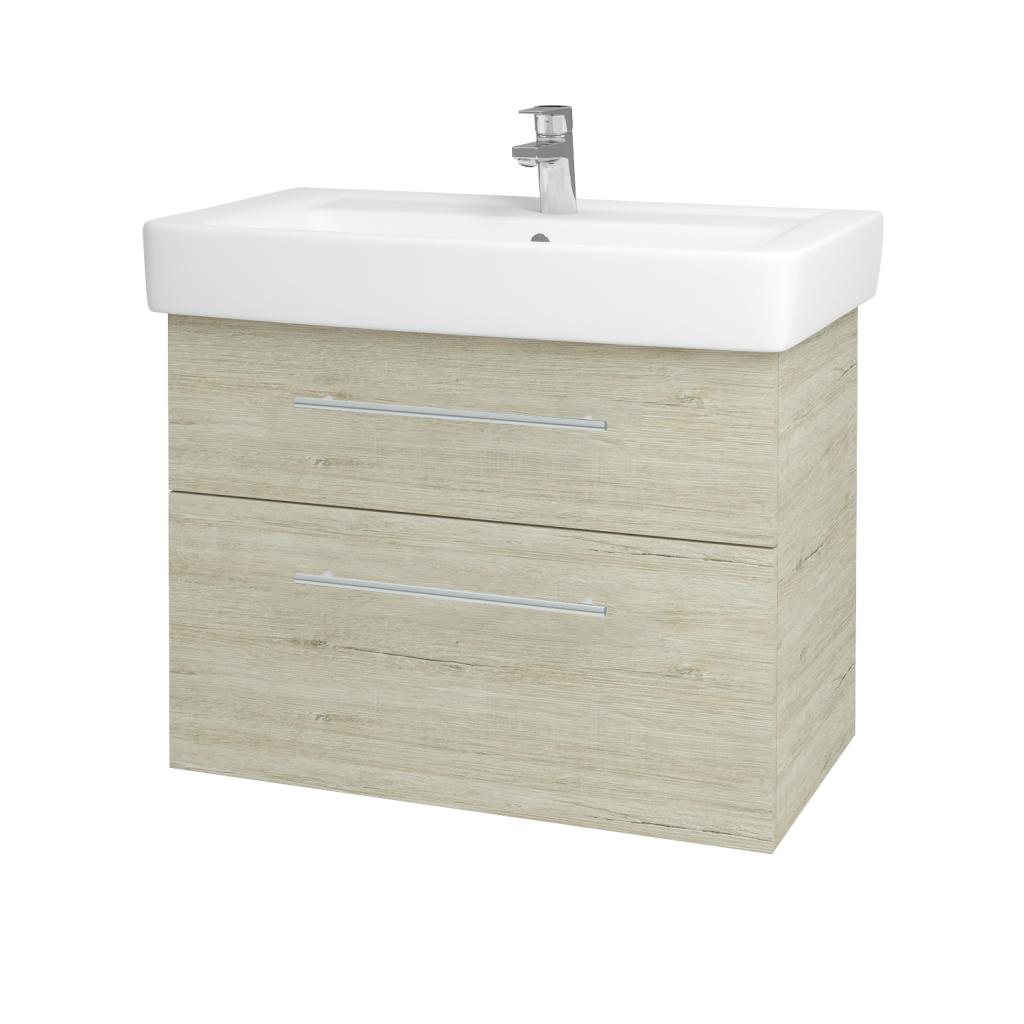 Dreja - Kúpeľňová skriňa Q MAX SZZ2 80 - D05 Oregon / Úchytka T02 / D05 Oregon (61336B)