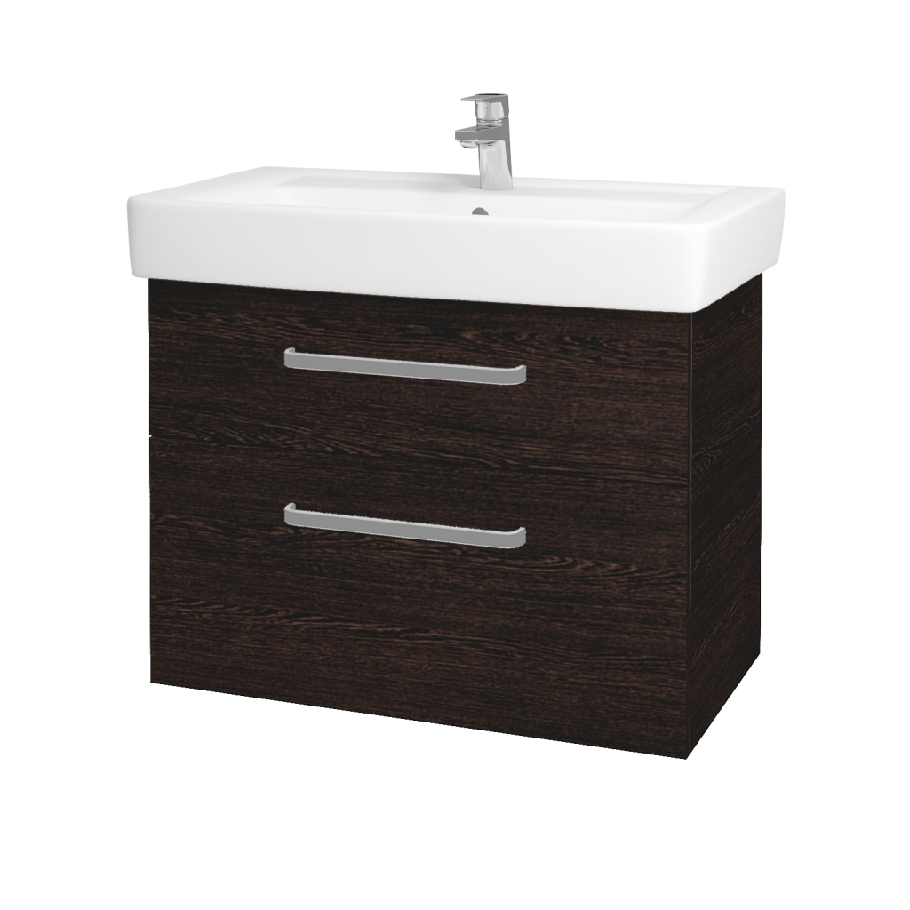 Dreja - Kúpeľňová skriňa Q MAX SZZ2 80 - D08 Wenge / Úchytka T01 / D08 Wenge (60339A)