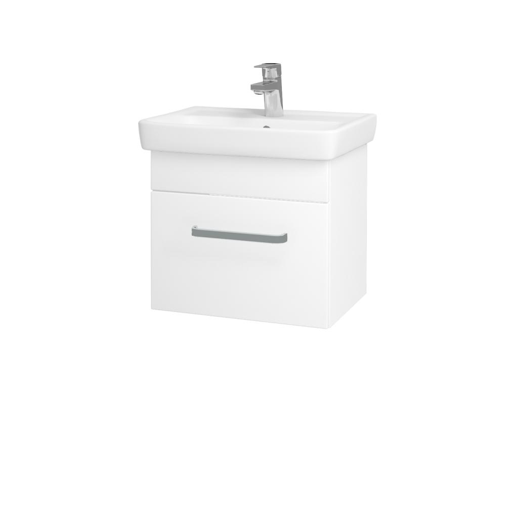 Dreja - Kúpeľňová skriňa SOLO SZZ 50 - N01 Bílá lesk / Úchytka T01 / L01 Bílá vysoký lesk (21811A)