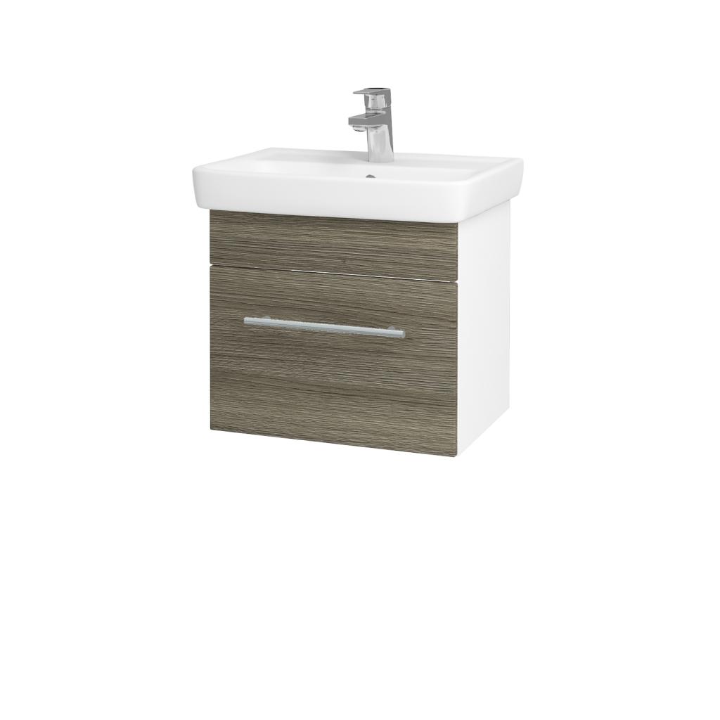 Dreja - Kúpeľňová skriňa SOLO SZZ 50 - N01 Bílá lesk / Úchytka T02 / D03 Cafe (21118B)