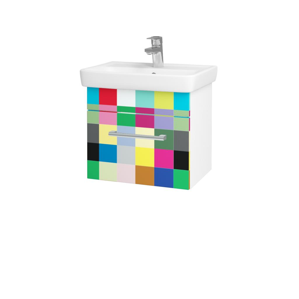 Dreja - Kúpeľňová skriňa SOLO SZZ 50 - N01 Bílá lesk / Úchytka T03 / IND Individual (20944C)