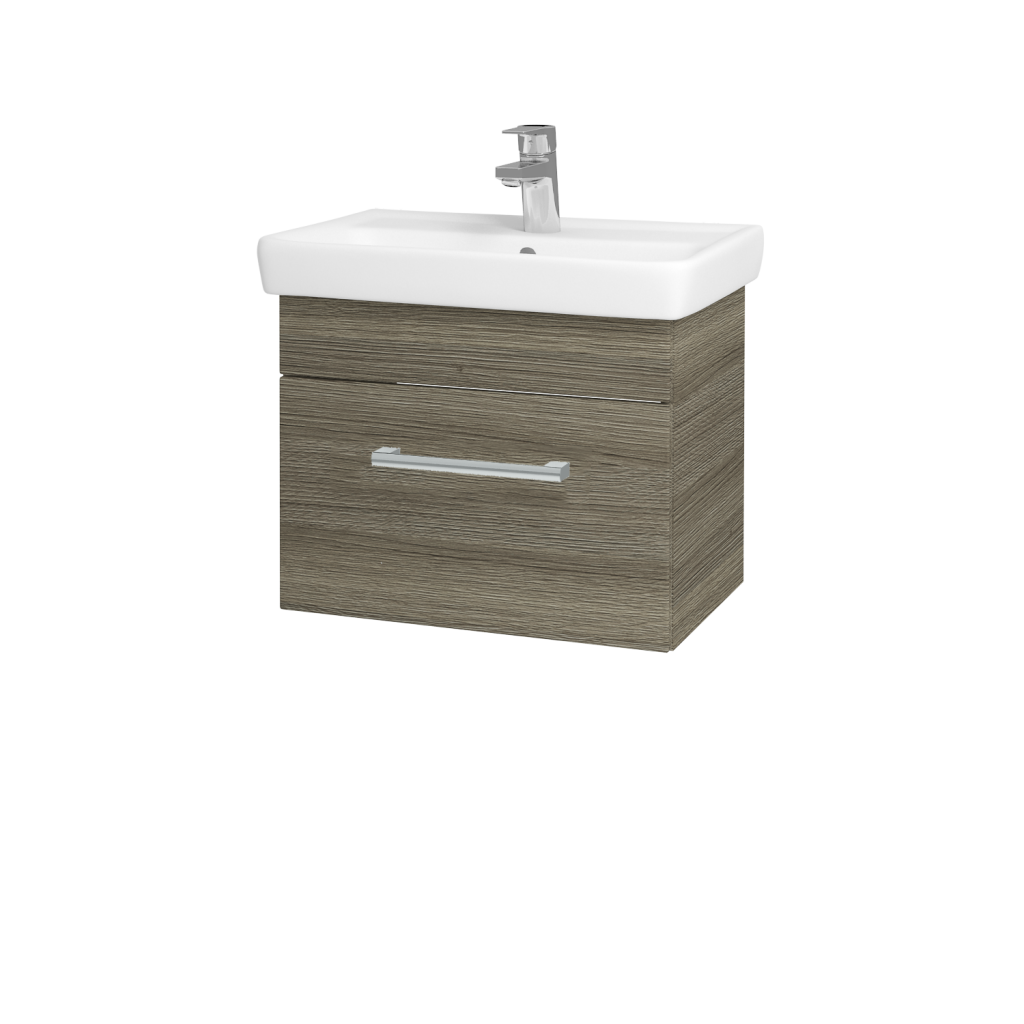 Dreja - Kúpeľňová skriňa SOLO SZZ 55 - D03 Cafe / Úchytka T03 / D03 Cafe (21279C)