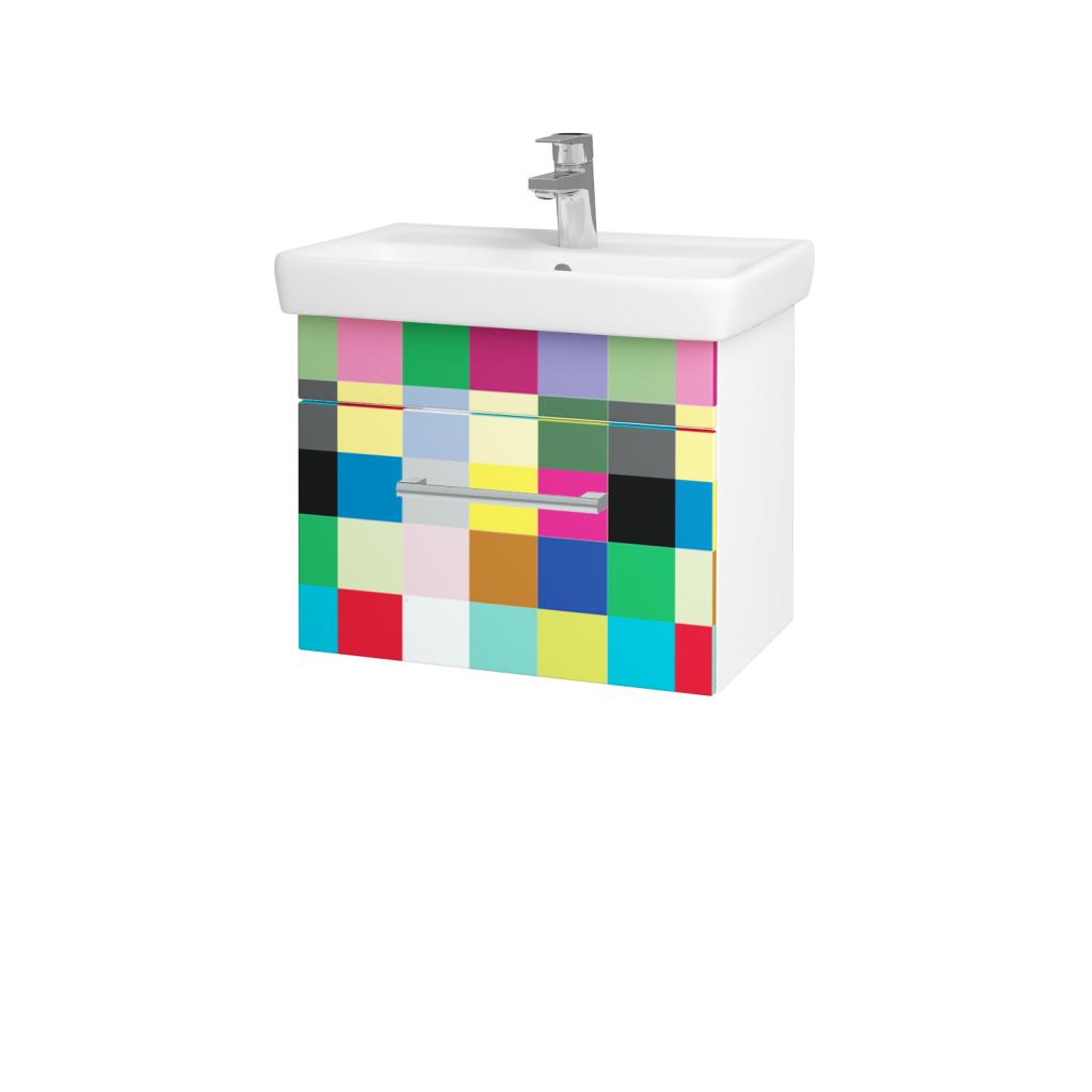 Dreja - Kúpeľňová skriňa SOLO SZZ 55 - N01 Bílá lesk / Úchytka T03 / IND Individual (20951C)