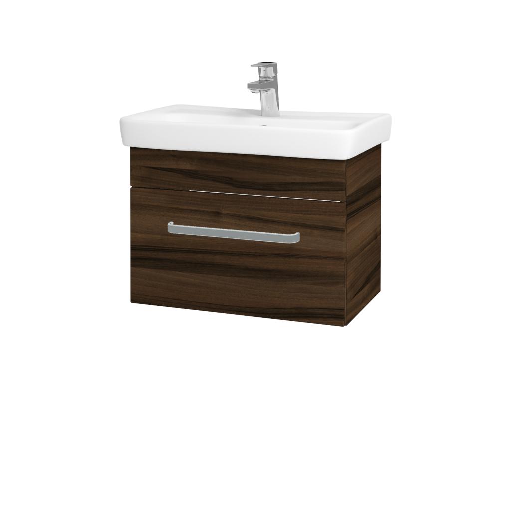 Dreja - Kúpeľňová skriňa SOLO SZZ 60 - D06 Ořech / Úchytka T01 / D06 Ořech (22146A)