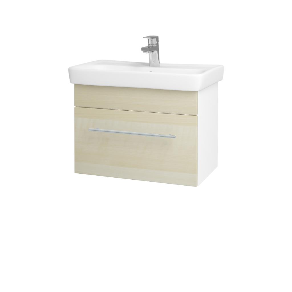 Dreja - Kúpeľňová skriňa SOLO SZZ 60 - N01 Bílá lesk / Úchytka T02 / D02 Bříza (21194B)