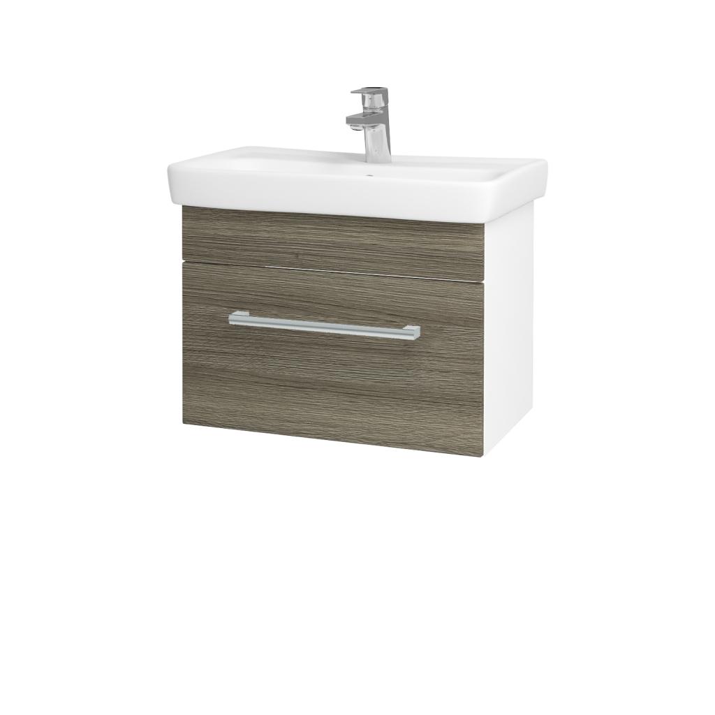 Dreja - Kúpeľňová skriňa SOLO SZZ 60 - N01 Bílá lesk / Úchytka T03 / D03 Cafe (21187C)