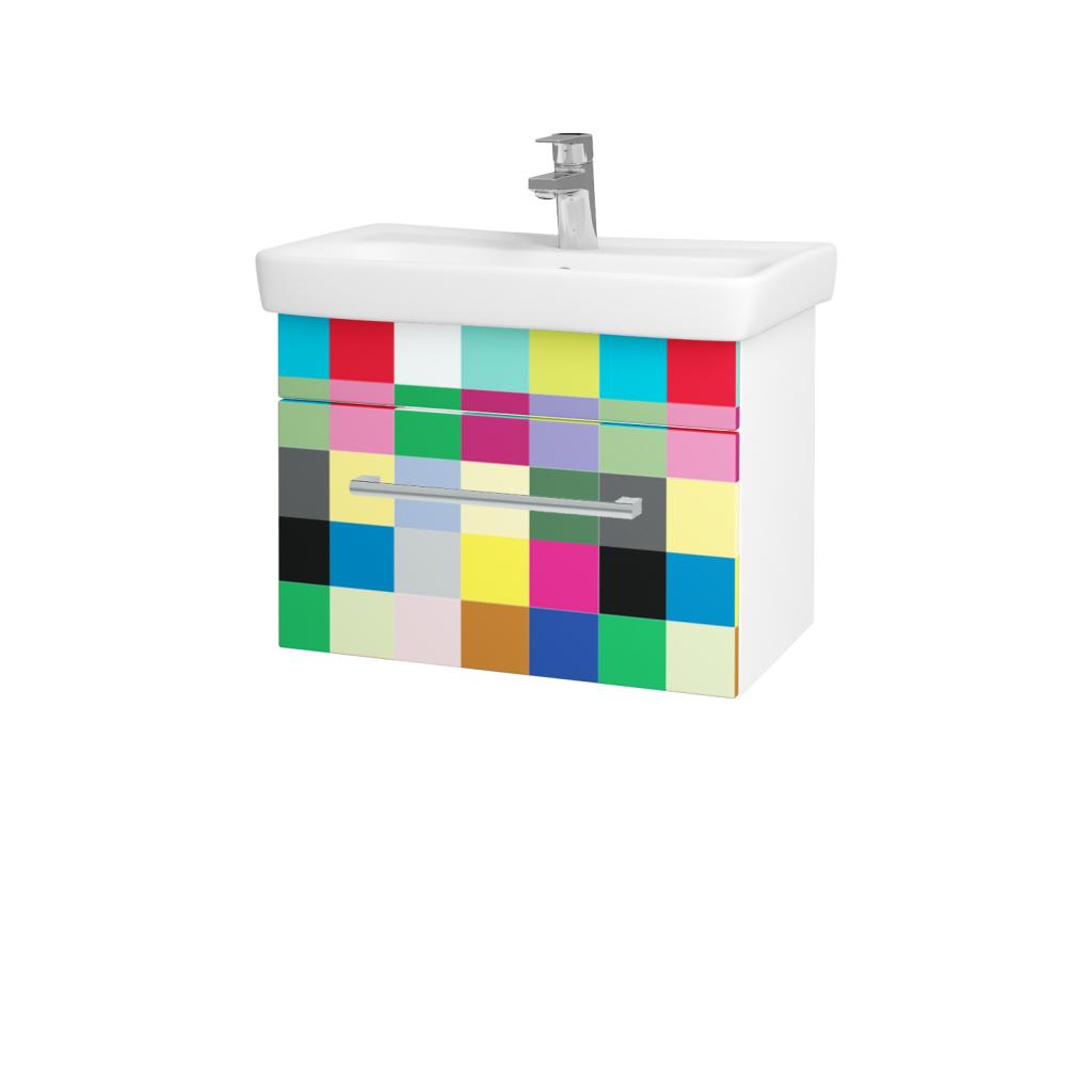 Dreja - Kúpeľňová skriňa SOLO SZZ 60 - N01 Bílá lesk / Úchytka T03 / IND Individual (20968C)