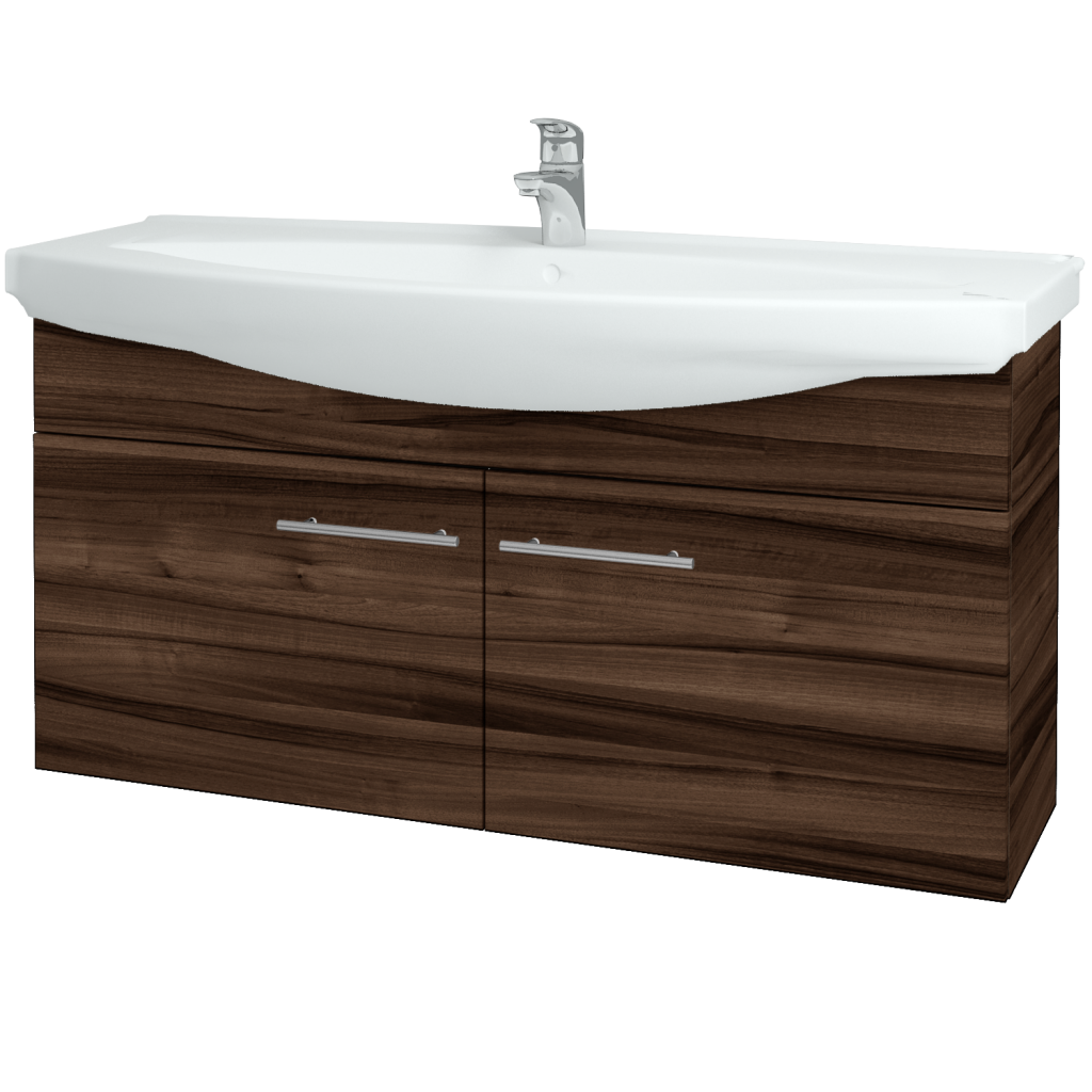 Dreja - Kúpeľňová skriňa TAKE IT SZD2 120 - D06 Ořech / Úchytka T02 / D06 Ořech (133566B)
