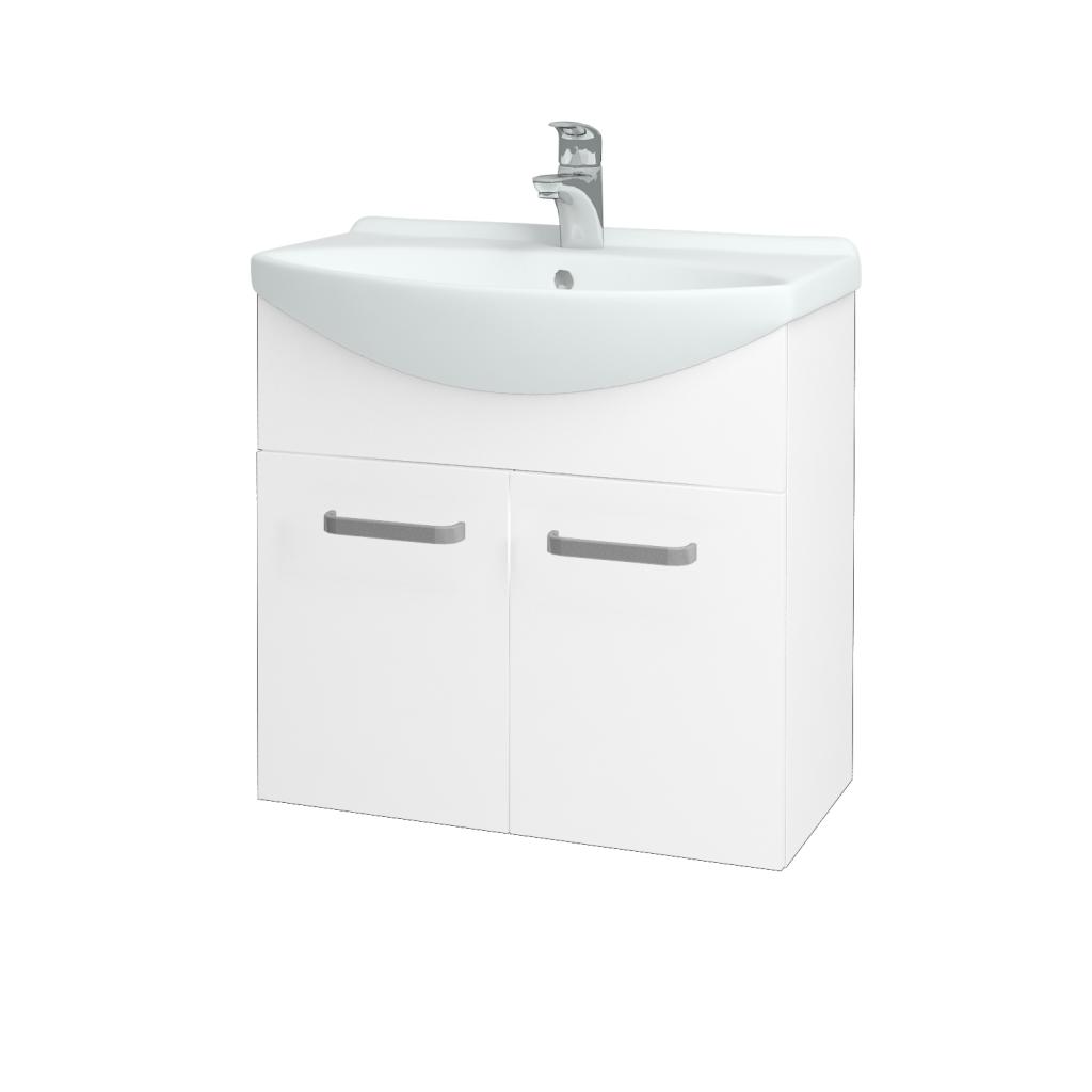 Dreja - Kúpeľňová skriňa TAKE IT SZD2 65 - N01 Bílá lesk / Úchytka T01 / N01 Bílá lesk (133580A)
