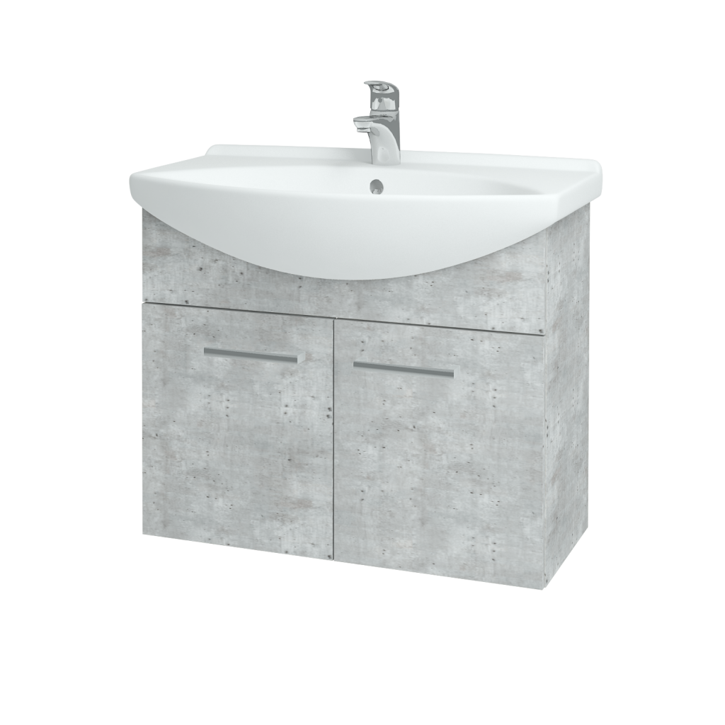 Dreja - Kúpeľňová skriňa TAKE IT SZD2 75 - D01 Beton / Úchytka T03 / D01 Beton (133306C)
