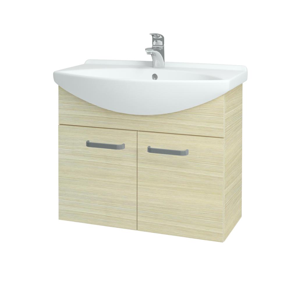 Dreja - Kúpeľňová skriňa TAKE IT SZD2 75 - D04 Dub / Úchytka T01 / D04 Dub (133337A)