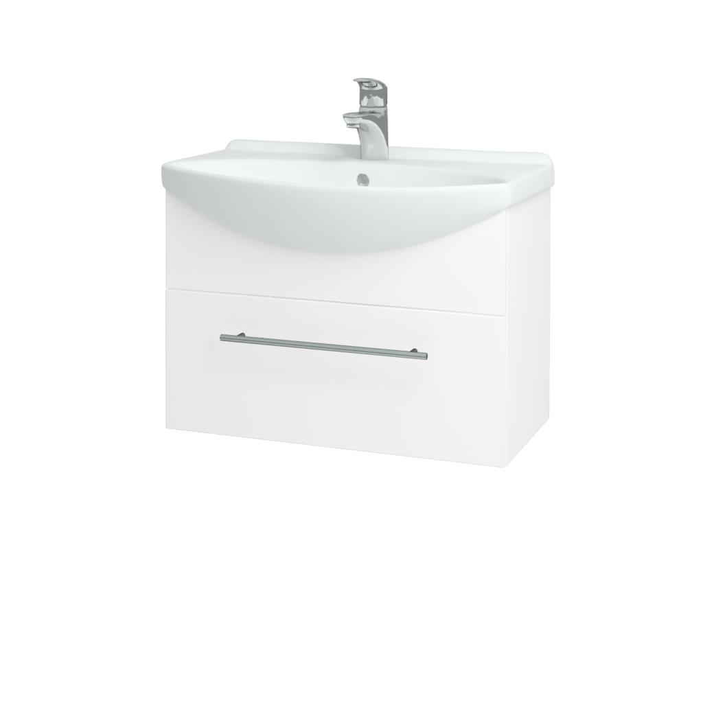 Dreja - Kúpeľňová skriňa TAKE IT SZZ 65 - N01 Bílá lesk / Úchytka T02 / N01 Bílá lesk (134389B)
