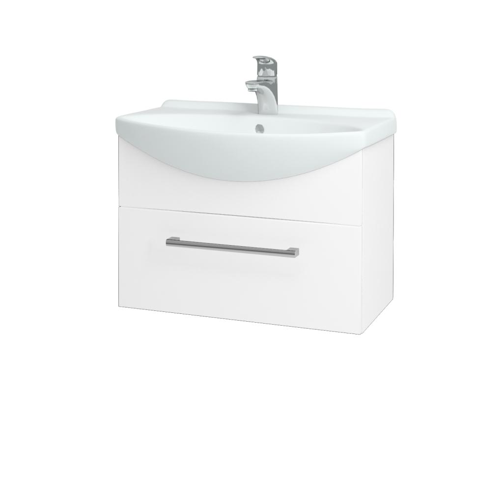 Dreja - Kúpeľňová skriňa TAKE IT SZZ 65 - N01 Bílá lesk / Úchytka T03 / N01 Bílá lesk (134389C)