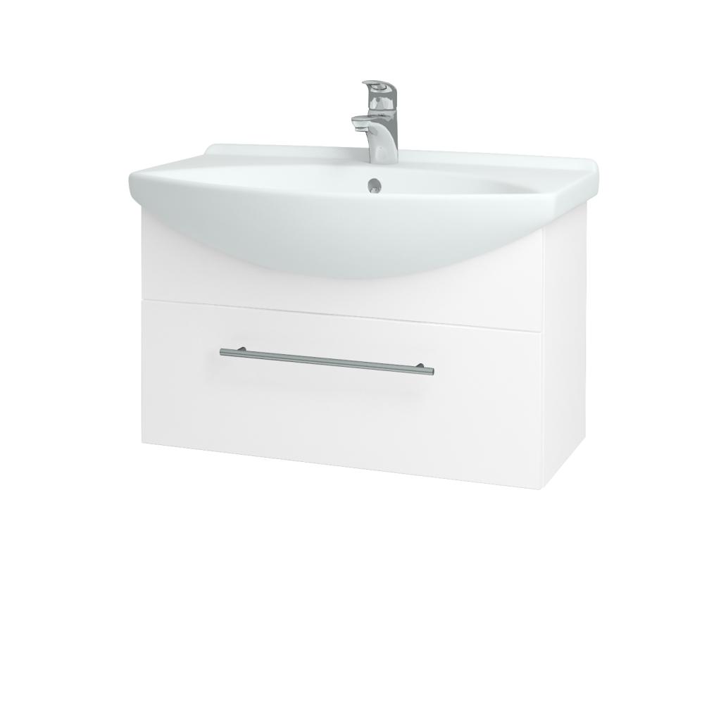 Dreja - Kúpeľňová skriňa TAKE IT SZZ 75 - N01 Bílá lesk / Úchytka T02 / N01 Bílá lesk (134396B)