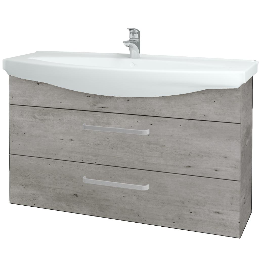Dreja - Kúpeľňová skriňa TAKE IT SZZ2 120 - D01 Beton / Úchytka T01 / D01 Beton (134310A)