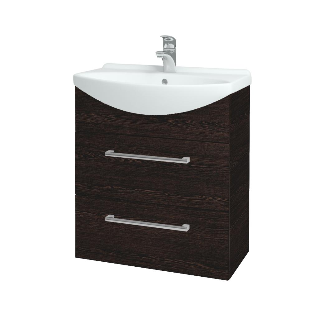 Dreja - Kúpeľňová skriňa TAKE IT SZZ2 65 - D08 Wenge / Úchytka T03 / D08 Wenge (133818C)
