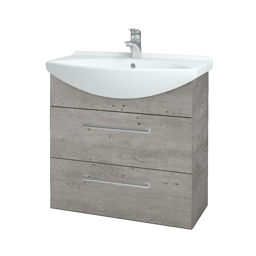 Dreja - Kúpeľňová skriňa TAKE IT SZZ2 75 - D01 Beton / Úchytka T03 / D01 Beton (133894C)