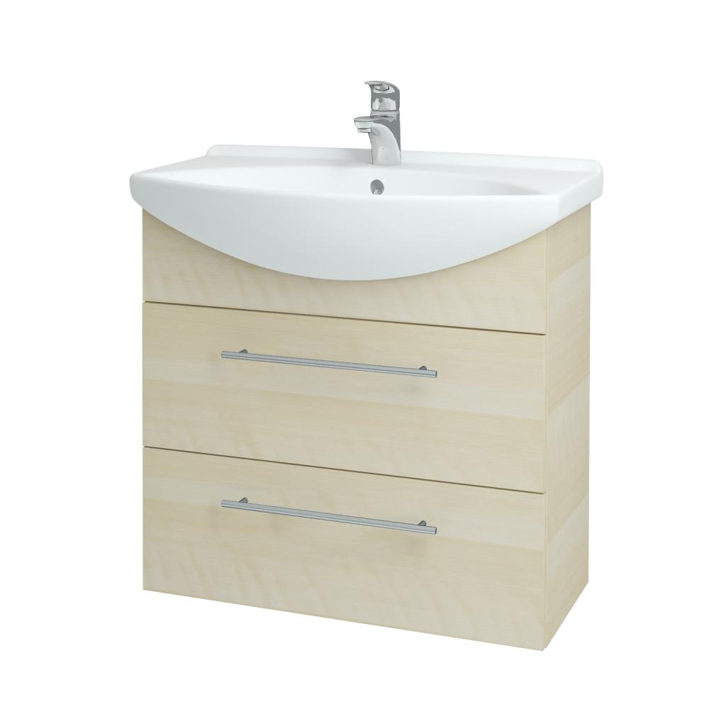 Dreja - Kúpeľňová skriňa TAKE IT SZZ2 75 - D02 Bříza / Úchytka T02 / D02 Bříza (133900B)